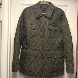 J. Crew quilted safari jacket